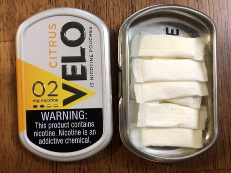 Velo Nicotine Pouches (2mg) Mint und Citrus Produkttest