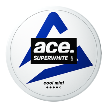 Ace Superwhite Cool Mint Slim Strong Nicotine Pouches