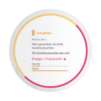 OrangeMan Energy + Fruit Punch Slim Nicotine Pouches