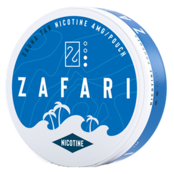 Zafari Sauna Tar 3.9MG Slim Nicotine Pouches