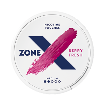zoneX Berry Fresh Slim Normal Nicotine Pouches