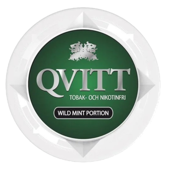Qvitt Mint Portion Nicotine Free Swedish Snus
