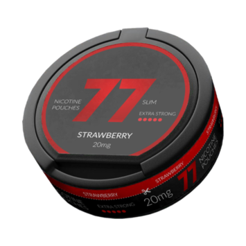 77 Strawberry Slim Extra Strong Nicotine Pouches