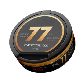 77 Classic Tobacco Slim Extra Strong Nicotine Pouches