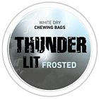Thunder Lit Frosted White Dry Original Extra Strong Chewing Bags
