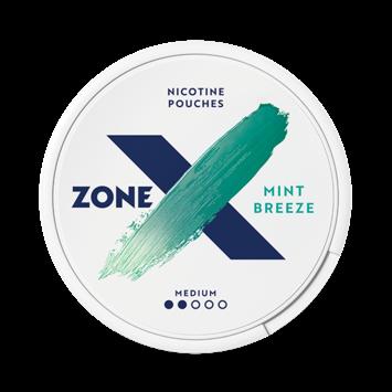 zoneX Mint Breeze Slim Normal Nicotine Pouches