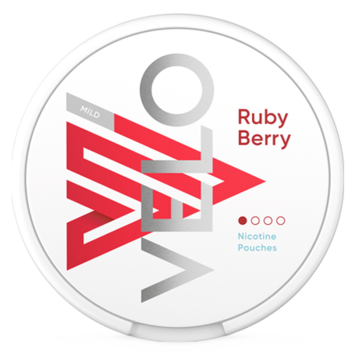 Velo Ruby Berry 4MG Slim Normal Nicotine Pouches