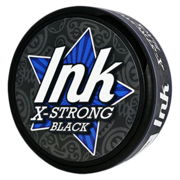 Ink X Strong Black White Extra Strong Chewing Bags