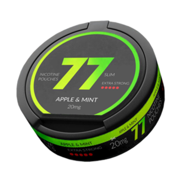 77 Apple Mint Slim Extra Strong Nicotine Pouches