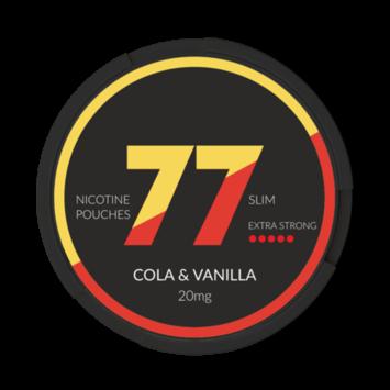 77 Cola & Vanilla Slim Extra Strong Nicotine Pouches