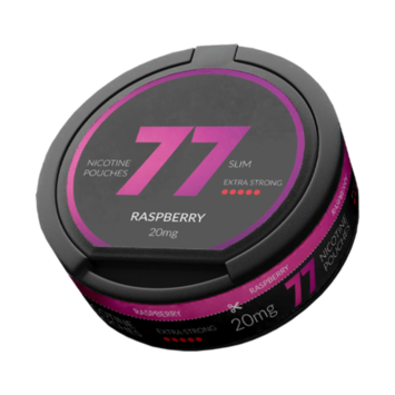 77 Raspberry Slim Extra Strong Nicotine Pouches