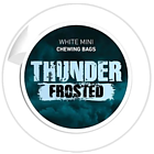 Thunder Frosted White Mini Strong Chewing Bags