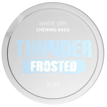 Thunder Frosted White Dry Slim Strong Chewing Bags