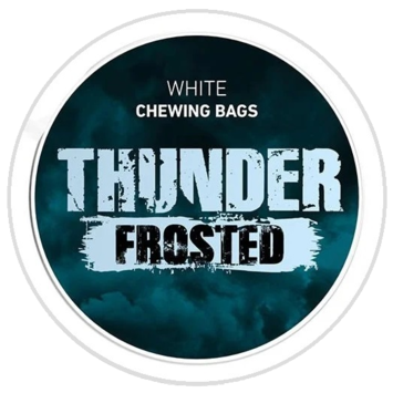 Thunder Frosted White Strong Chewing Bags