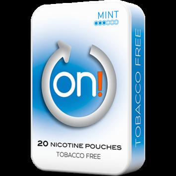on! Mint 3mg Mini Nicotine Pouches
