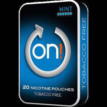 on! Mint 6mg Mini Nicotine Pouches