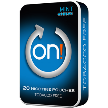 on! Mint 6mg Mini Strong Nicotine Pouches