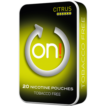 on! Citrus 6mg Mini Strong Nicotine Pouches