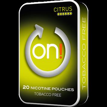 on! Citrus 6mg Mini Nicotine Pouches