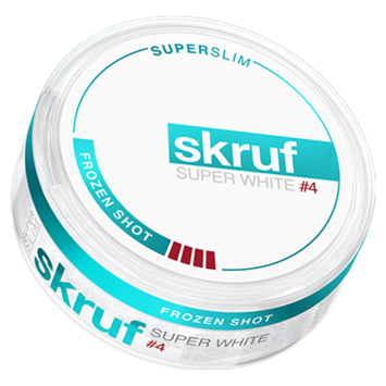 Skruf Super White Frozen Shot #4 Superslim Strong Nicotine Pouches