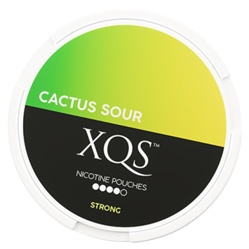 XQS Cactus Sour Slim All White Nicotine Pouches